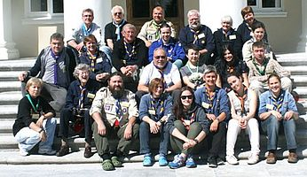 Thumbnail picture for page:  Once a Scout - Always a Scout — Wagon meeting in St. Petersburg